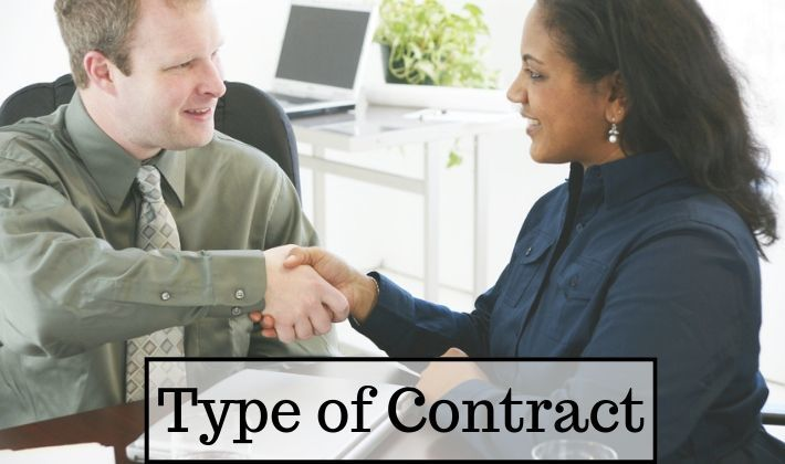 types of contracts and risk