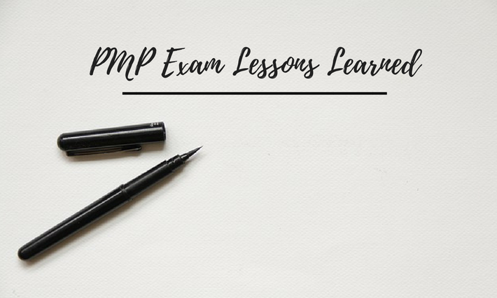 pmp exam lessons learned