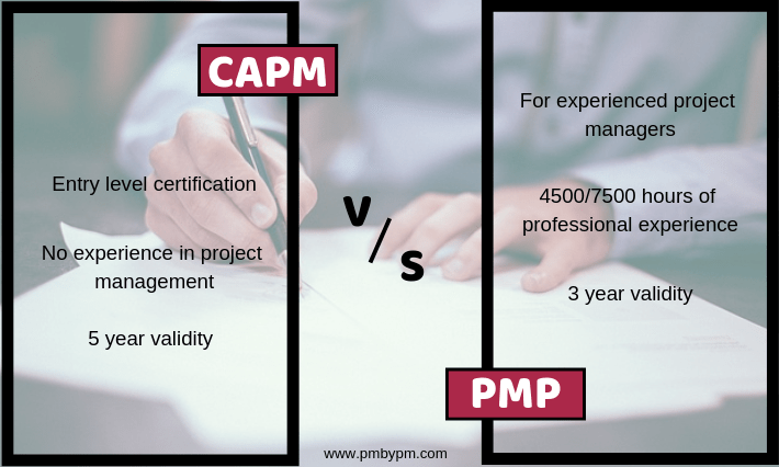 capm vs pmp certification