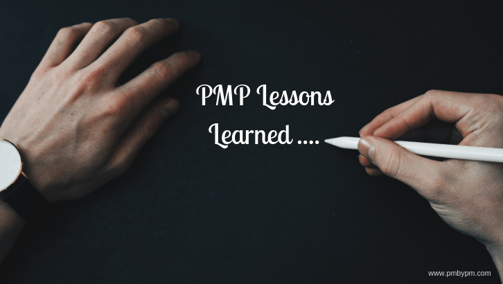 lessons learned pmp